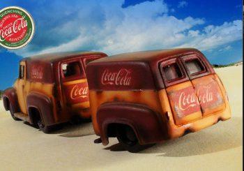 Custom Hot Wheels du jour : Un Ford F-100 Panel Coca Cola