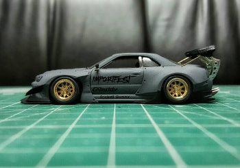 Un custom impressionnant de Pisut Masanong sur une Hot Wheels Skyline R34