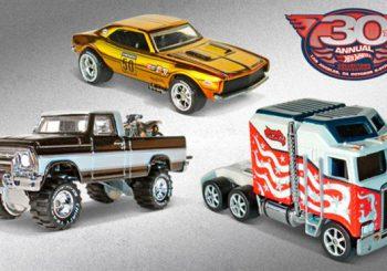 3 Hot Wheels spéciales pour la 30th Annual Hot Wheels Collectors Convention