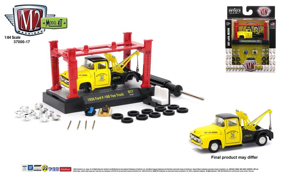 M2 Machines Model Kits Séries 17 Mooneyes Ford F 100 Tow Truck