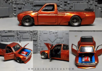 Hot Wheels Customs : Le pickup Datsun 620 d'Angga Bmj‎